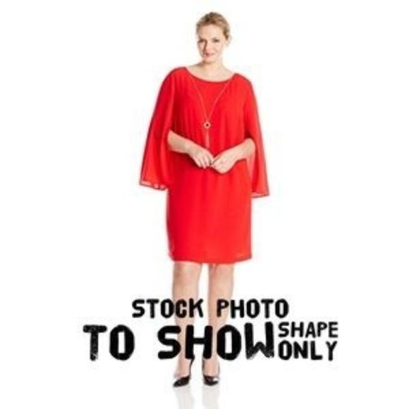 NWOT AGB Dress Plus Size Trumpet Sleeve 24W
